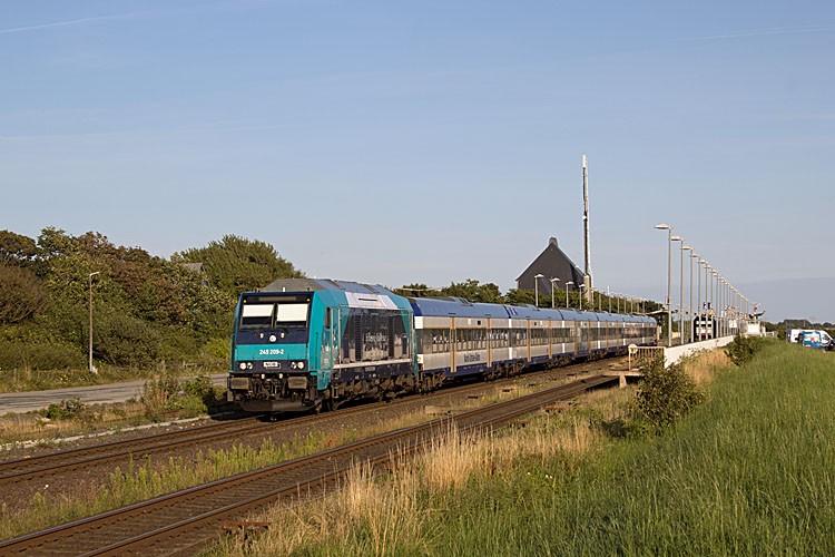 Eine TRAXX in Klanxbüll. Foto: N. Johannsen